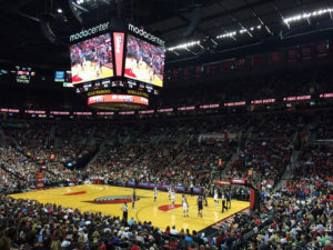 Portland Trailblazers at the Moda Center, Portland, Oregon