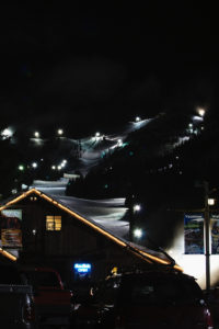Mt. Hood Skibowl at night