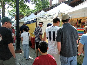 People at Portland Saturday Market.