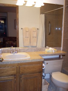 Whispering Woods Resort 2 Bedroom Loft Downstairs Bathroom Sink