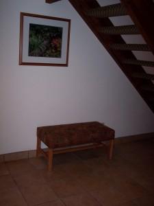 Whispering Woods Resort 2 Bedroom Loft Entry Bench