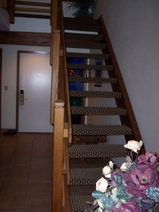 Whispering Woods Resort 2 Bedroom Loft Bottom of Stairway