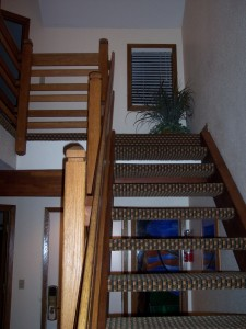 Whispering Woods Resort 2 Bedroom Loft Stairway