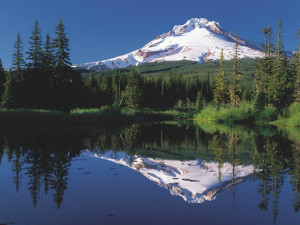 Mt. Hood Reflected in Mirror Lake