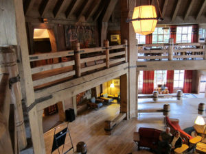 Inside of Timberline Lodge, Mt. Hood, Oregon